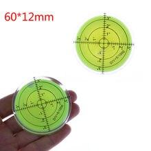 60*12mm niveau à bulle circulaire niveau à bulle rond niveau à bulle Instruments de mesure outil rapporteur universel