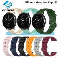 Silicone pulseira de pulso para zepp e acessórios relógio inteligente substituição pulseira para amazfit gts bip u pulseira de relógio ajustável loop