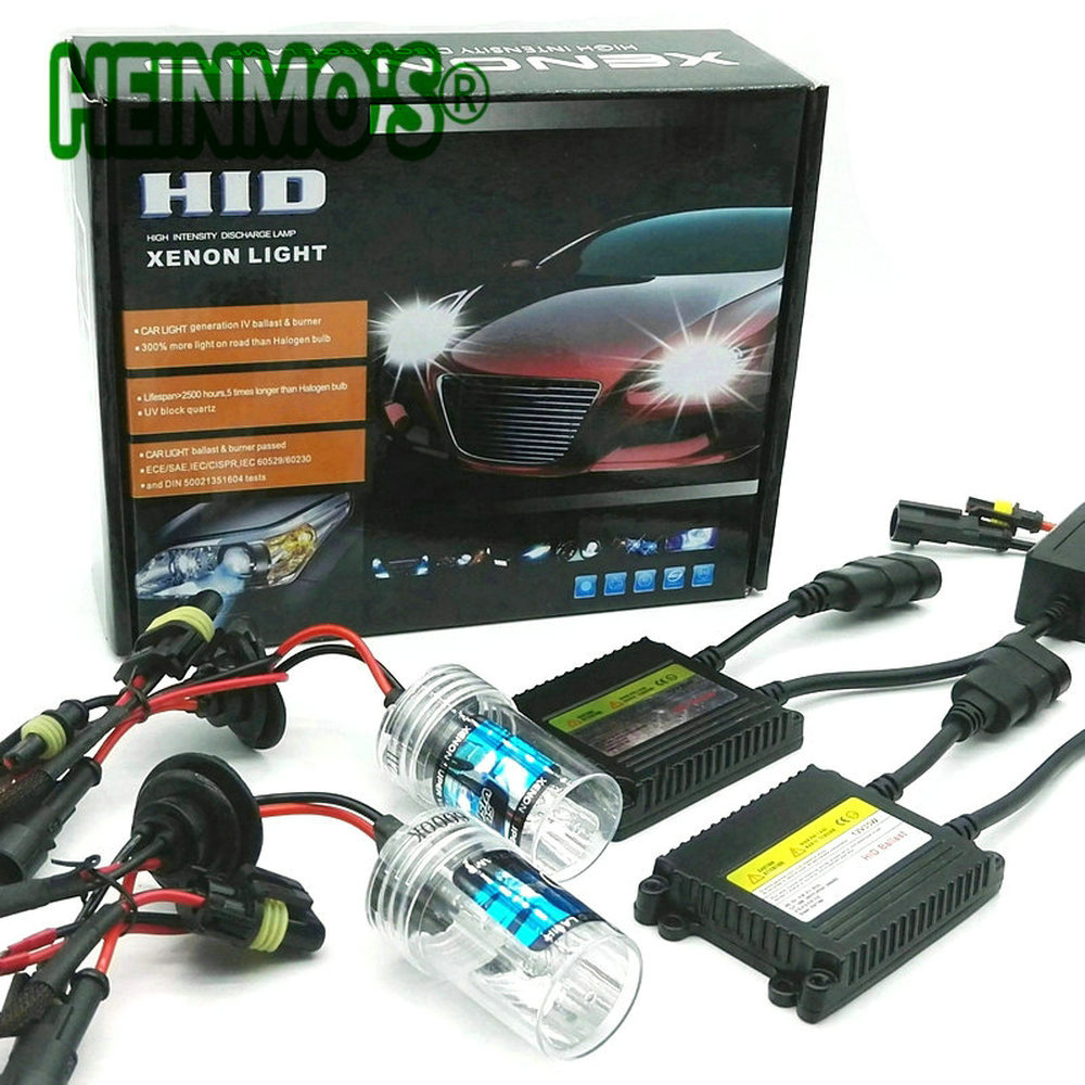 55W Xenon HID H1 Kit Xenon H7 Headlights HID H11 H3 H8 H9 Car Light High Low H4 HID Xenon Bulb 4300K 6000K 8000k 9005 9006 Lamp