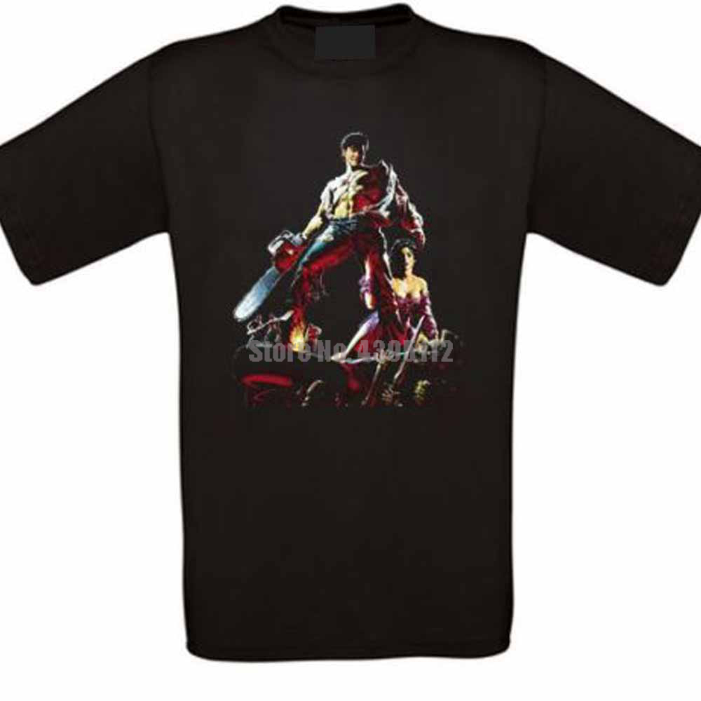 Army Of Darkness Ash Horror Cult Movie Mens T Shirts Japanese Streetwear Tshirts Designer T-Shirt 100% Cotton image