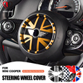 Автомобильная наклейка на центральную панель рулевого колеса Наклейка Обложка Наклейка s для MINI COOPER F54 F55 F56 F60 R55 R56 R60 R61 Countryman Clubman