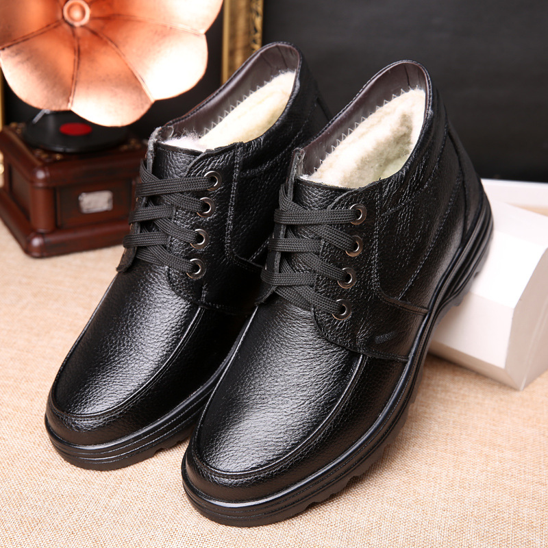Handmade Men Genuine Leather Winter Boots High Quality Snow Men Boots Ankle Boots For Men Business Dress Shoes Men