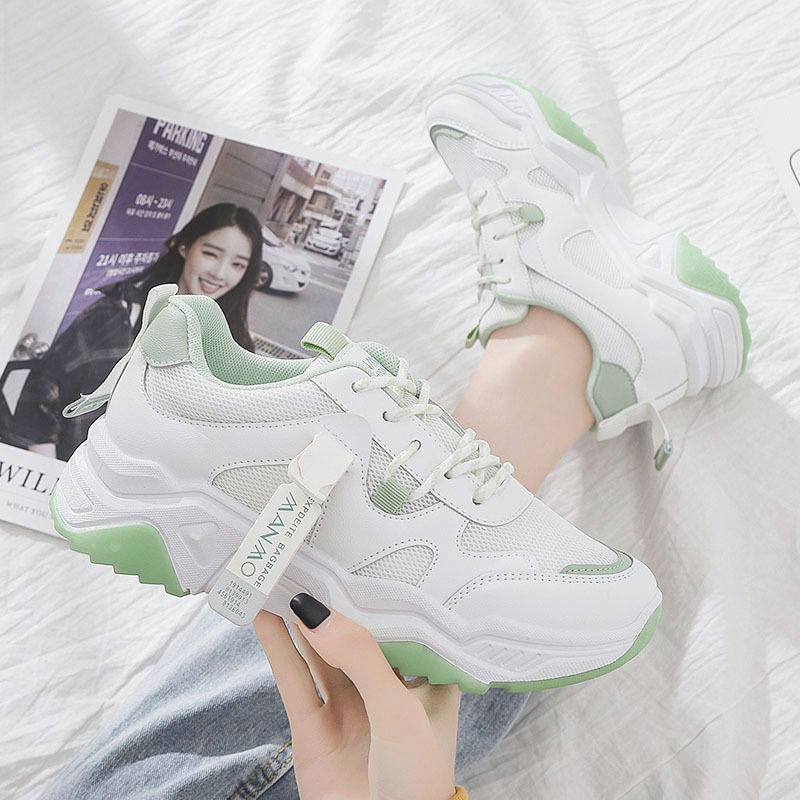 Daddy shoes women's new breathable mesh shoes casual sports shoes women's Korean running shoes