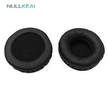 Nullkeai peças de reposição earpads para philips hs500 fones earmuff capa almofada copos