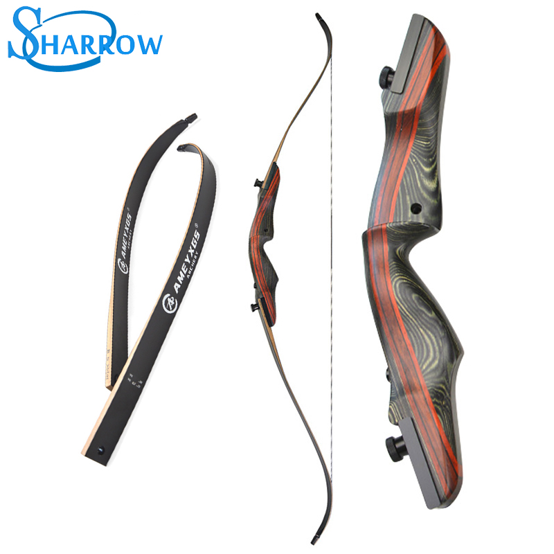 62 Recurve Bow Takedown 20 50lbs Archery Bow Wood Longbow Hunting Shoot High strength Maple, Iaminated Sheet Material Slingshot