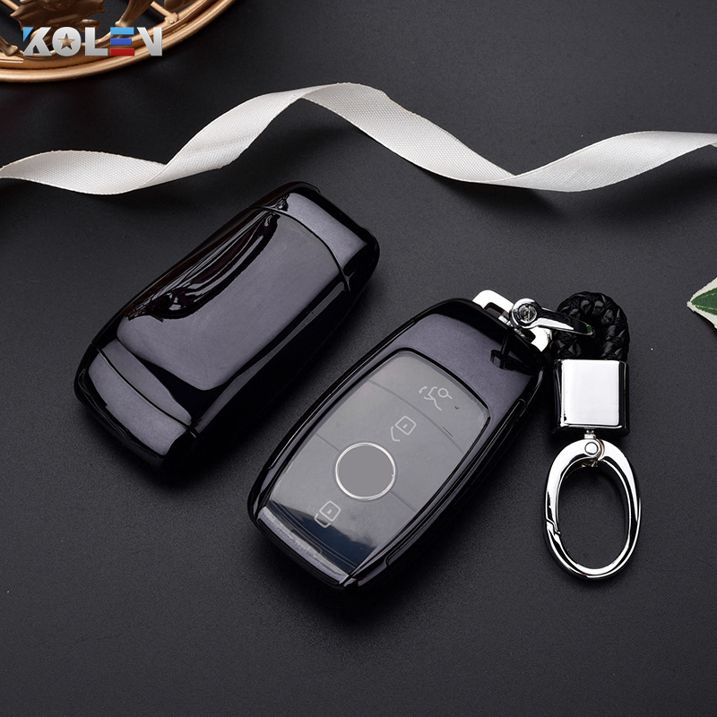 TPU PC Car Remote Key Case Cover Fob For Mercedes Benz E S Class 2017 2018 A220 W213 E200 E300 E220 E63S GLE 350 E43 4MATIC AMG