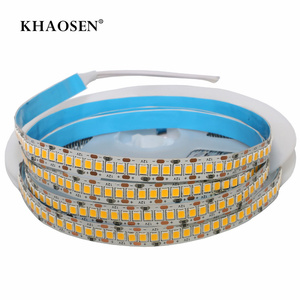 Khaosen 2835 LED strip 5M 1200 LED high brightness 60 120 240 LED/m DC12V LED Flexible PCB LED backlight White Warm White