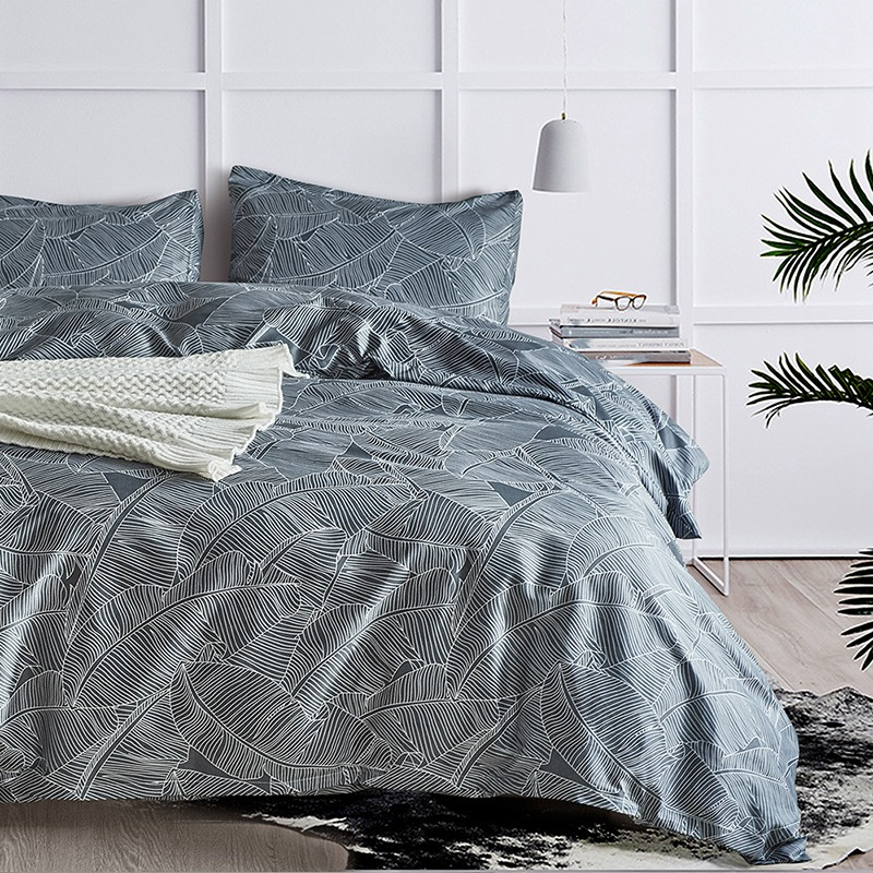 3 Sets Of Bedding Home Textiles, Luxurious Hypoallergenic Quilts, Zip Closure, Corner Tie. 1 Duvet Cover + 2 Pillowcases