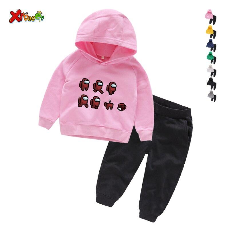 Game Among Us Hoodies Pants Suit for Teens Girls Boys Children Cartoon Anime Sweatshirt Suit Kids Autumn Winter Clothes Sudadera 4