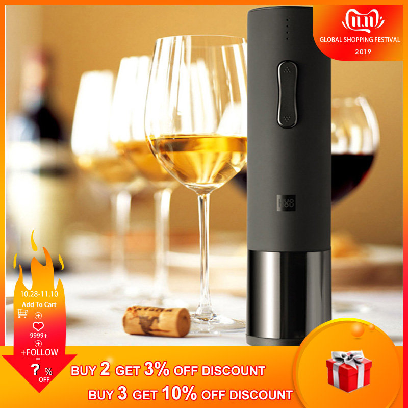 Bottle Opener For Xiaomi Huohou Automatic Red Wine Bottle Opener Electric Corkscrew With Foil Cutter Cork Out Tool 6S Open Wine