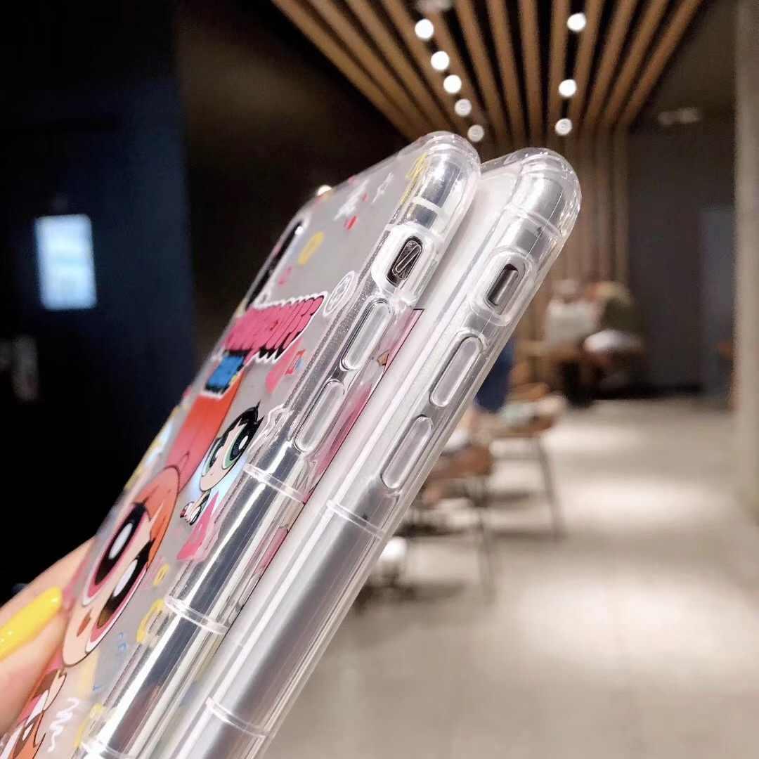 Милый Powerpuff для девочек, полицейский INS, чехол для телефона, чехол для iPhone XS X Max Xr 8 7 6 s Plus, мягкий чехол из ТПУ с мультяшным рисунком