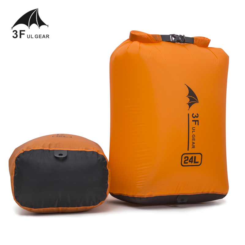 3F UL Gear 6/12/24/36L Waterproof Dry Bag Pack Sack Swimming Rafting Kayaking River Trekking Floating Sailing Canoing Boating