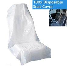 100pcs Universale di Plastica PE Morbido Seggiolino Auto Usa E Getta Copertura di Protezione Protezione Impermeabile Del Veicolo Automobilistico Auto Antipolvere