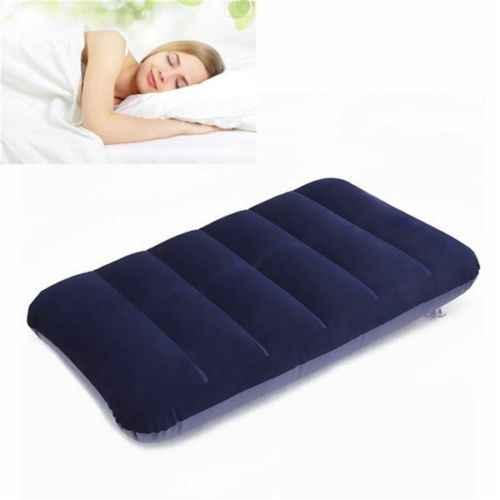 1Pcs Mobil Perjalanan Udara Bantal Istirahat Bantal Bantal Bantal Biru Inflatable Bed OUTDOOR Bantal 47X30 Cm