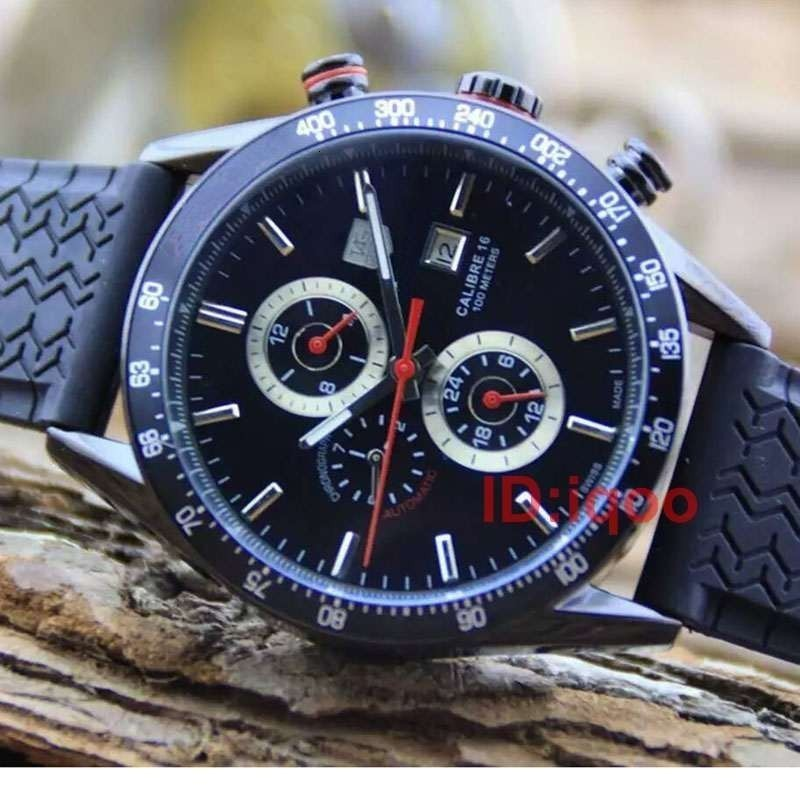 Rubber Strap Luxury Automatic Mechanical Tag Designer Mens Watches Men Watch Reloj Wristwatches Orologio Di Lusso Montre De Luxe
