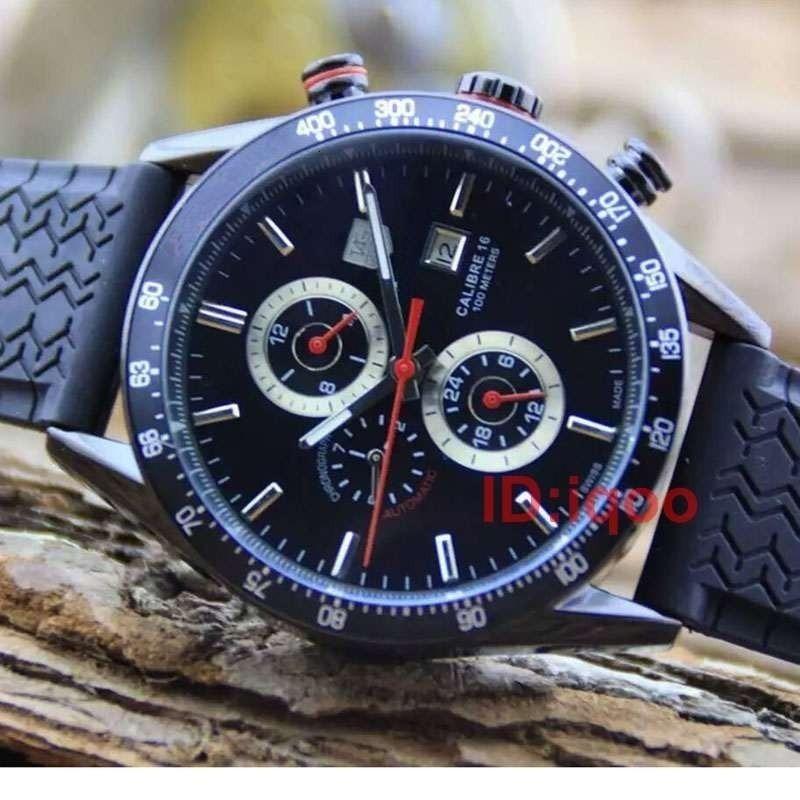 Rubber Strap Luxury Automatic Mechanical Tag Designer Mens Watches Men Watch Reloj Wristwatches Orologio Di Lusso Montre De Luxe