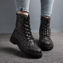 Женские ботильоны из искусственной кожи marten зимние ботинки