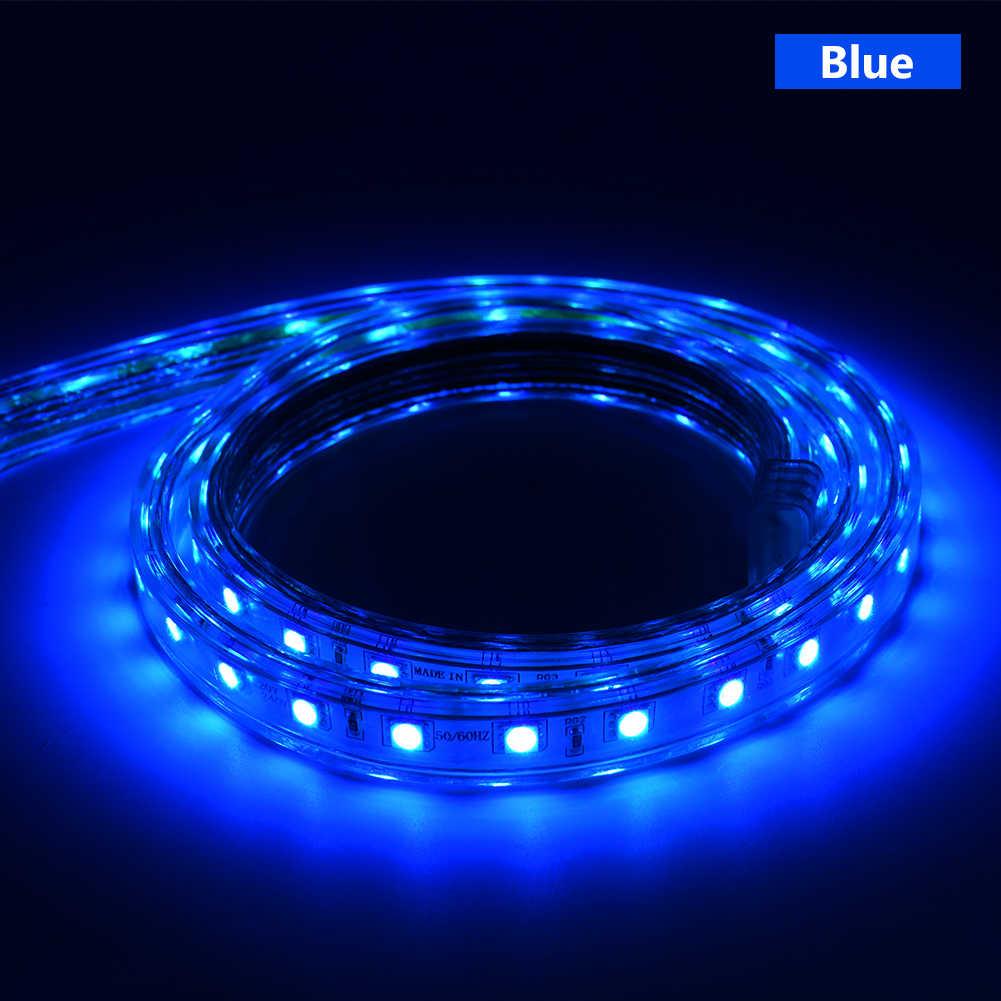 Dengan Harga Murah SMD5050 Komersial LED Strip Lampu Tali RGB Uni Eropa Plug Power Supply Controller 1-100 M Panjang Dipilih IP67 220V