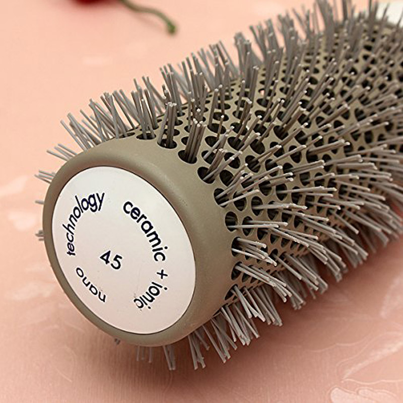 Hair Brush Ceramic Iron Round Comb Barber Dressing Salon Styling EY669