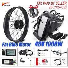 Big Battery Electric Bike Kit 1000W Fat Motor Wheel for Snow Bike 20\