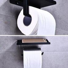 Дрель Бесплатная настенный туалет ванная комната Бумага держатель