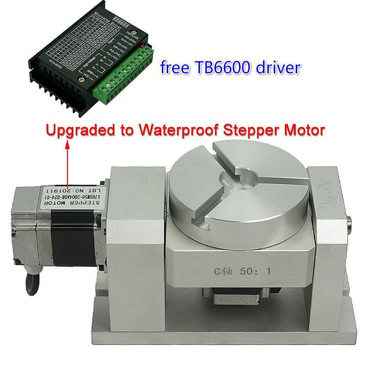 4th 5th Axis ,Rotary Axis,CNC Dividing Head, 50:1 , Harmonic Reducer, Harmonic Gearbox (no Hysteresis)