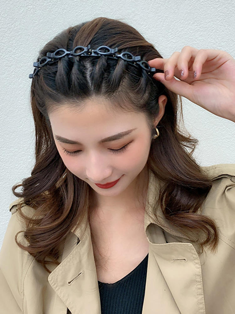 Hoop Hairstyle Hairpin Hair-Accessories Hairband Alice Double-Bangs Metal Sports Women