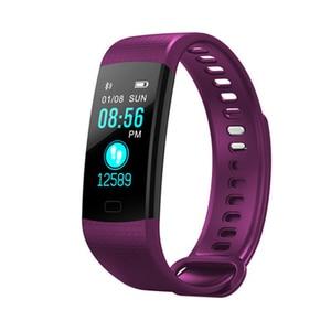 Image 4 - Bluetooth חכם צמיד צבע מסך Y5 C Smartband קצב לב צג לחץ דם מדידה כושר גשש חכם