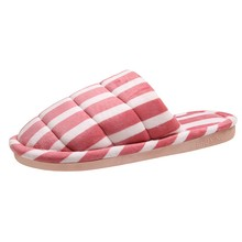 SAGACE Warm slippers women #8217 s house slippers non-slip non-slip soles indoor casual shoes women #8217 s home cotton slippers 2020 cheap Flock Rubber Low (1cm-3cm) Fits true to size take your normal size Unisex slippers winter Basic Sewing Solid Summer Outside
