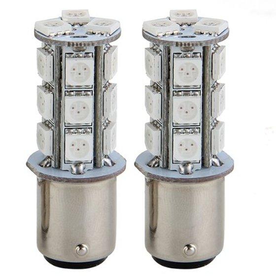 Hot 3C- 2x1157 SMD 5050 18 Red LED Flash Car Brake Tail Rear Signal Stop Light Lamp Bulb
