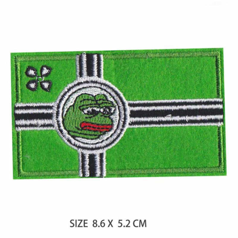 Sad frog embroidery cloth patch iron-on patch clothes Apparel accessories badge