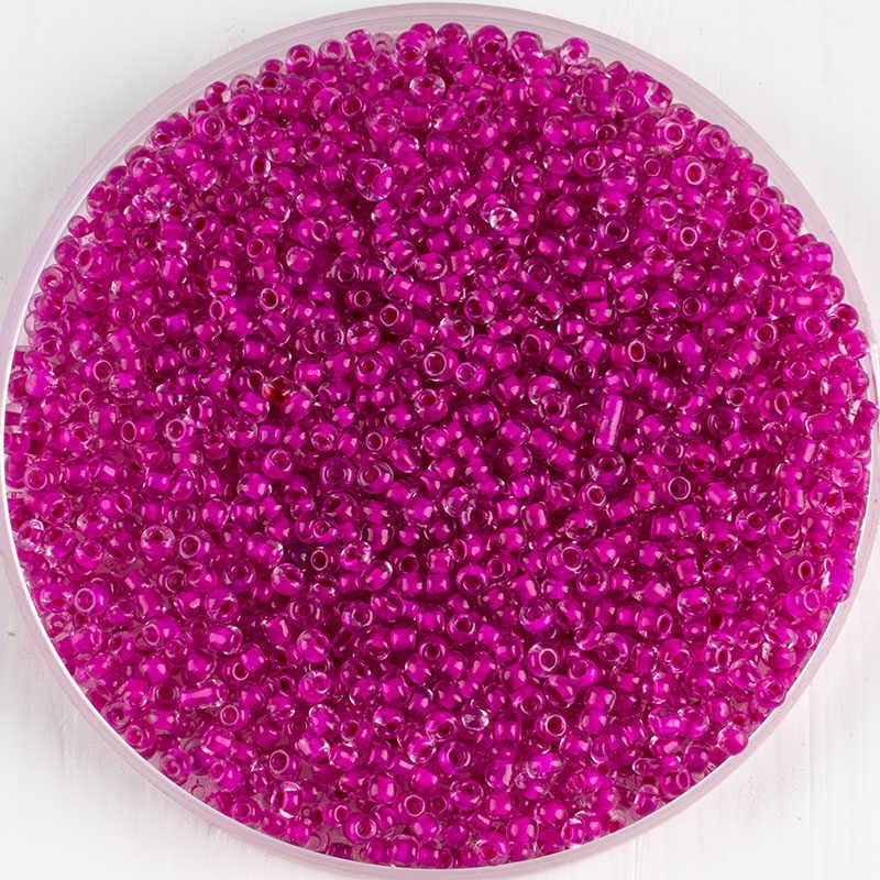 Bán buôn 2mm1000pcs hoa hồng đỏ Séc hạt pha lê hạt thủy tinh cho trang sức làm vòng tay vòng cổ đồ trang trí rời hạt chất liệu DIY