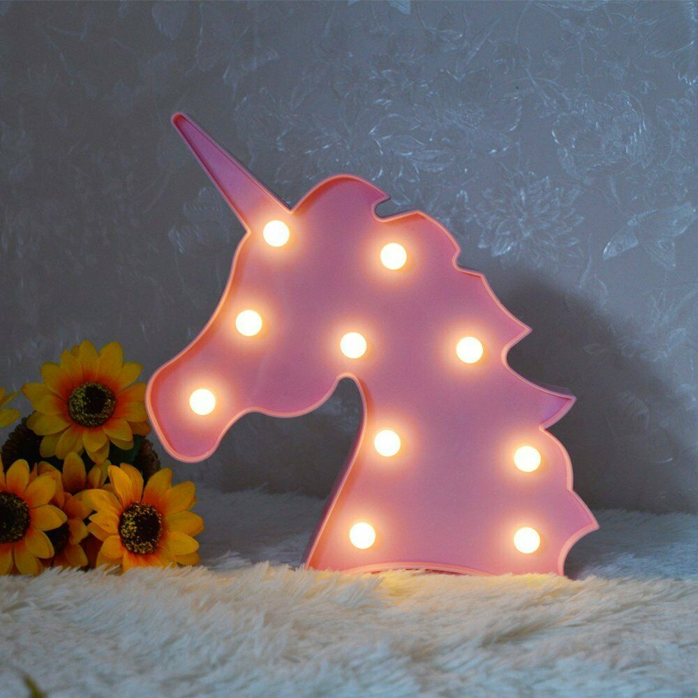 Cartoon Night Lights Unicorn LED Table Lamp For Children's Bedroom Decoration