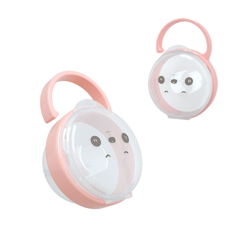 Portable Baby Pacifier Nipple Kid Travel Case Cartoon Panda Expression Nipple Storage Box Soother Container Holder Pacifier Box
