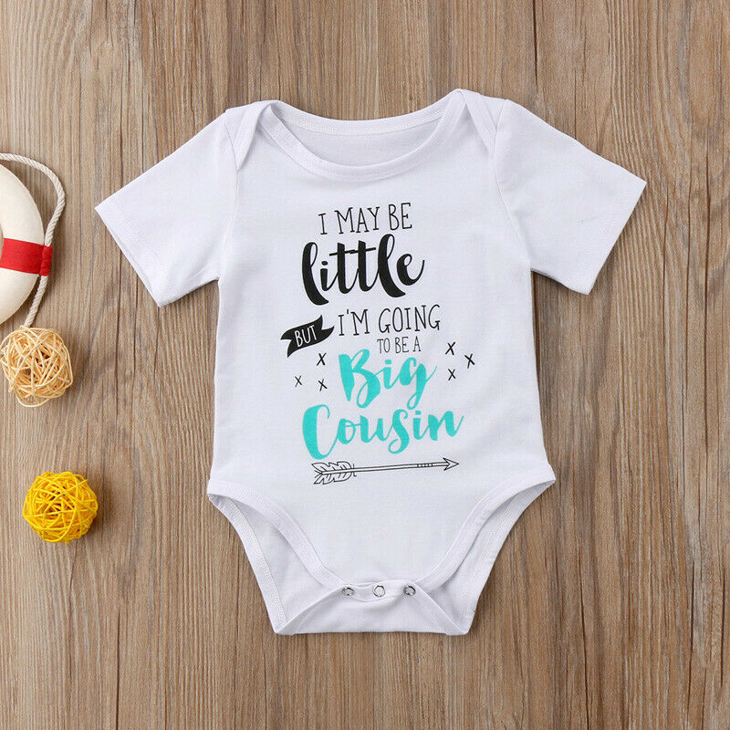 Lovely Newborn Baby Boy Girl Funny Letter Summer Short Sleeve Romper Bodysuit Clothes Casual Outfits 0-24M