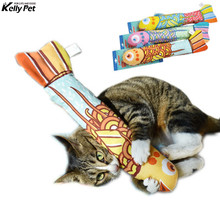 Fish design Interactive Crackle Fancy Catnip Cat Toy trainning Colorful Mint Funny Toys For Teaser Pet Pillow