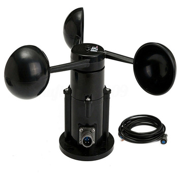 Measurement With Cable Instrument Anemometer 0-5V Long Transmission Wide Use Three Cups Wind Speed Sensor High Accuracy