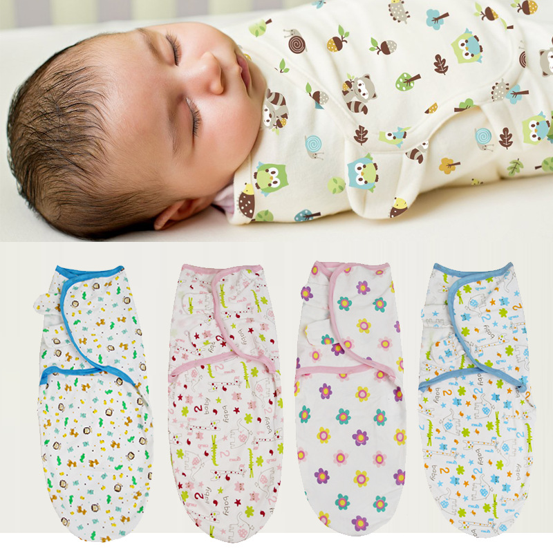 0-3 Months 100% Cotton Baby Swaddle Wrap Blanket Newborn Infants Muslin Baby Envelop Sleep Bag Sleepsack Mantas Para Bebe KF679