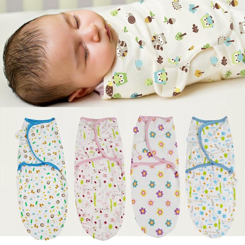 0-3 Months 100% Cotton Baby Swaddle Wrap Blanket Newborn Infants Muslin Baby Envelop Sleep Bag Sleepsack Mantas Para Bebe KF679