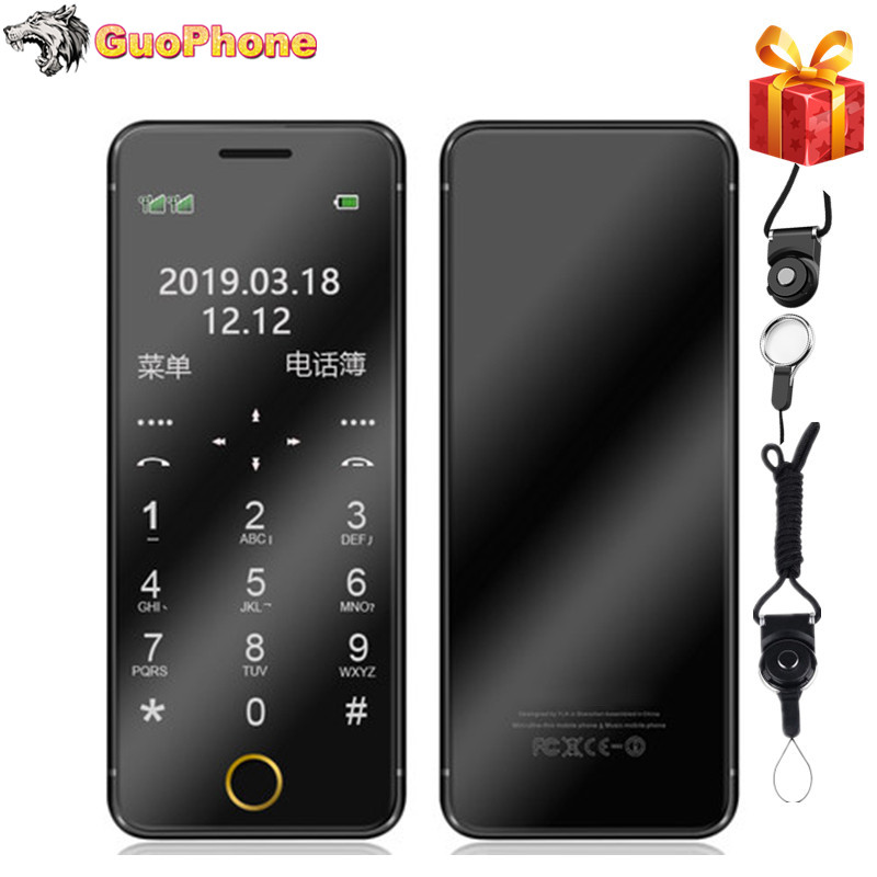 ULCOOL V6 V66+ V66 Plus Phone With Super Mini Ultrathin Card Luxury MP3 Bluetooth 1.67''inch Dustproof Shockproof phone