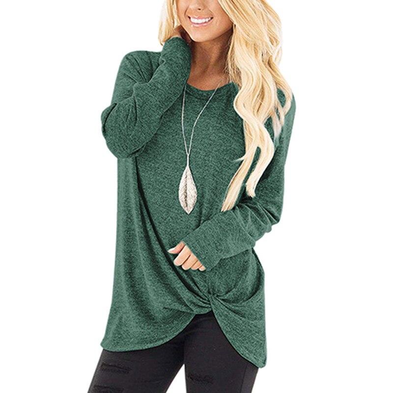 Damska koszulka z długim rękawem casual o-neck slim jesienno-zimowa damska koszulka topy odzież damska czarna szara koszulka damska streetwear 3