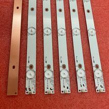 30 unids/lote tira de LED para iluminación trasera para 32PFT4100 32PHH4100 32PFT5500 LG 32LH500D 32PFH4309 32PHT4319 GJ 2K15 D2P5 315 GEMINI 315 D307 V1 LBM320P0701 FC 2 LB32067 V0