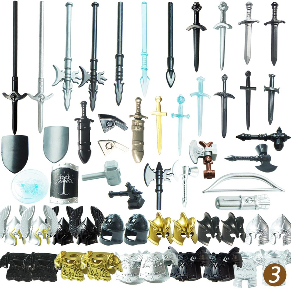 10PCS   Military Mediaeval Times Army  Weapons Shield   For 4cm Mini Dolls MOC Building Blocks Brick Toys For Children