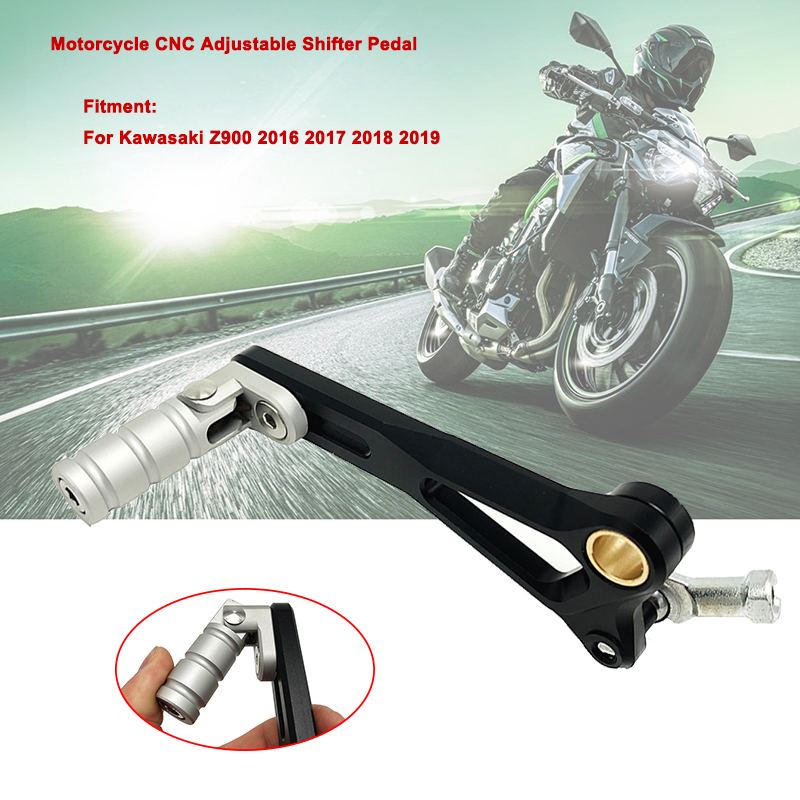 Z900 Gear Shift Lever fits For <font><b>KAWASAKI</b></font> Z 900 2016 2017 2018 <font><b>2019</b></font> Motorcycle CNC Aluminum Adjustable Folding Gear Shifter Pedal image