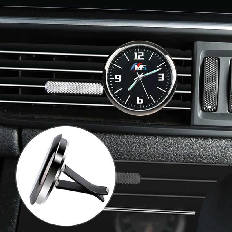 Per BMW Audi Per Mercedes Honda Ford Toyota Porsche Honda Auto Orologio Da Tavolo Luminoso Refit Interni Orologi Al Quarzo Auto Ornamenti