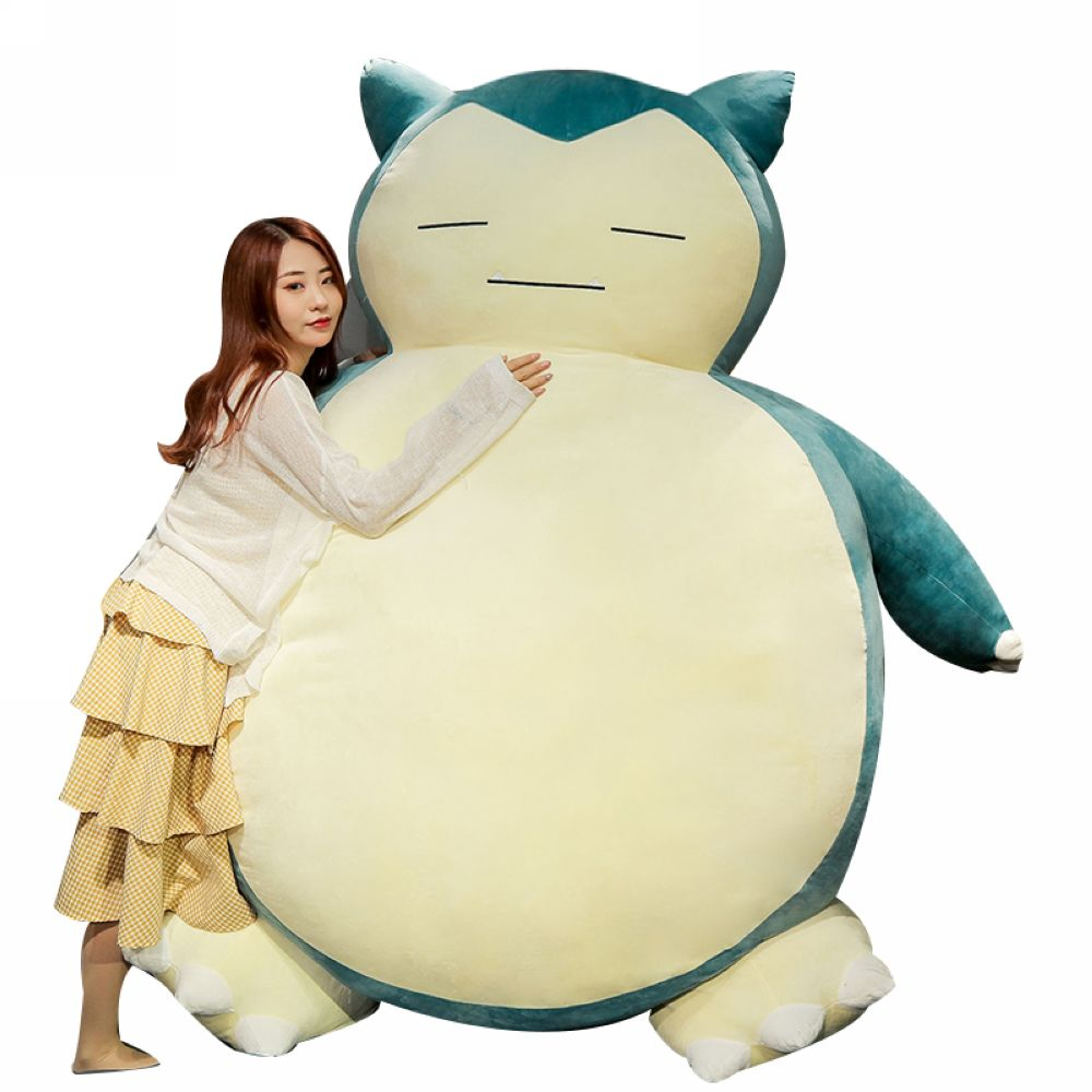 Fancytrader 78'' JUMBO Giant Stuffed Snorlax Toy Huge Plush Anime Soft Animal Doll Pillow Sofa Bed Best Gift Home Deco FT50788