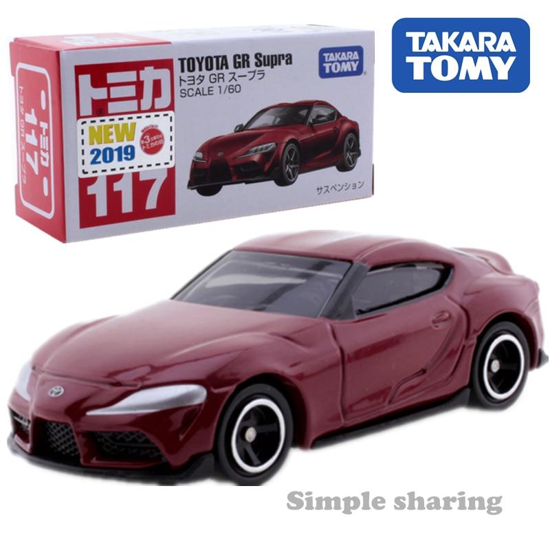 Takara Tomy Tomica Toyota Gr Supra Car Toy No.117 Diecast Miniature Model Kit