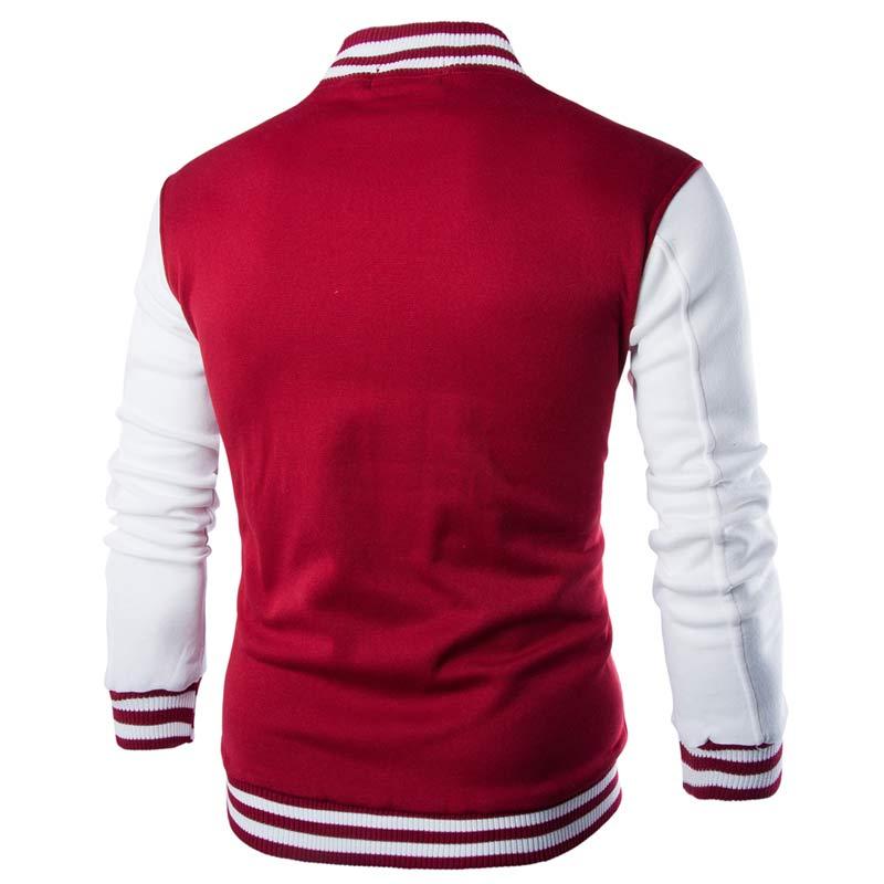 LOVZON New Men/Boy Baseball Jacket Men Fashion Design Wine Red Mens Slim Fit College Varsity Stylish Veste Homme 2