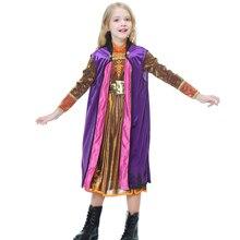 цена на New Arrival Anna Costume Cosplay Girls Snow Queen Dress Halloween Costume For Kids
