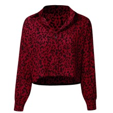 2019 Women Tops Fashion Womens  Casual Shirt Long Sleeve Button Leopard Cardigan Outwear Top Blouse 8.24 все цены